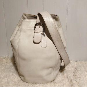 Vintage Coach 4160 Bone Sling Backpack Bag